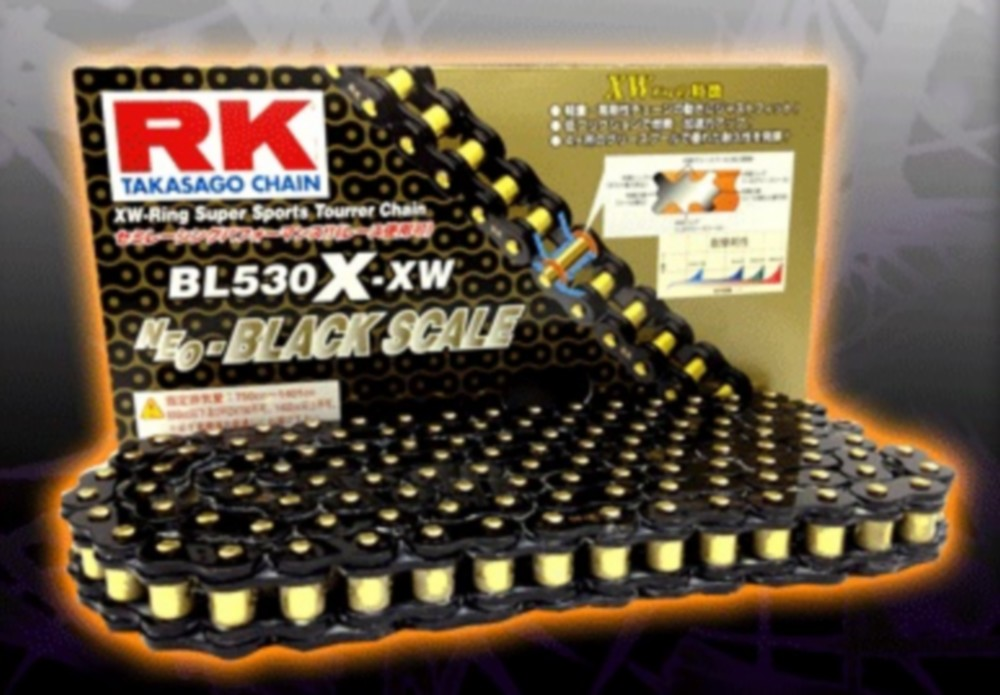 【ポイント5倍開催中!!】RK アールケー チェーン BLブラックスケールシリーズチェーン BL525X-XW