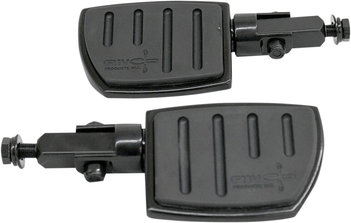 RIVCO PRODUCTS リブコプロダクツ WIDE PEGS FLATFOOT BLK [1624-0326] Tri Glide Ultra Classic - FLHTCUTG 2009 - 2010