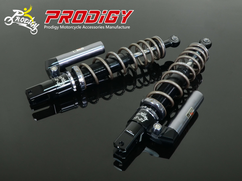 PRODIGY プロディジイ リアサスペンション S-21 スポーツショック(ツイン) シリンダーデコレーション:ゴールド チューブボディ:ブラック Fighter 125 Fighter4V F1 150