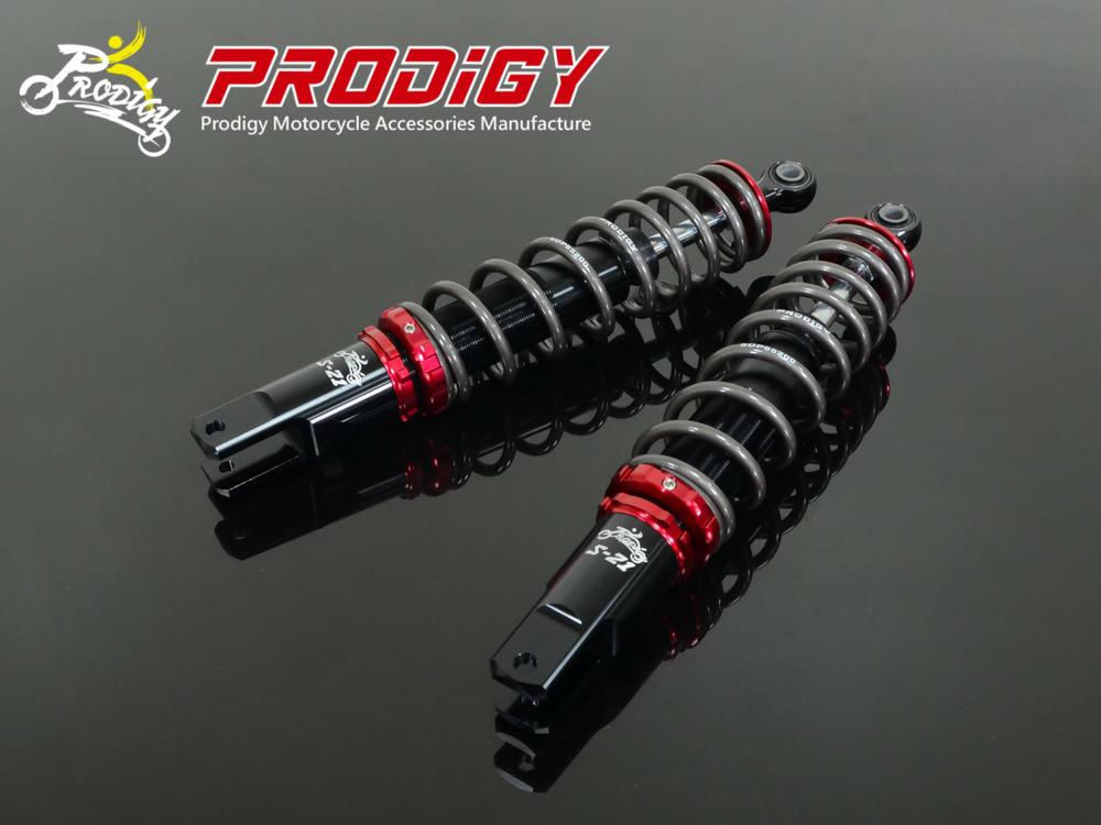 PRODIGY プロディジイ リアサスペンション S-21 スポーツショック(ツイン) チューブボディ:ブラック ボタン:オレンジ GR125 Z1 125