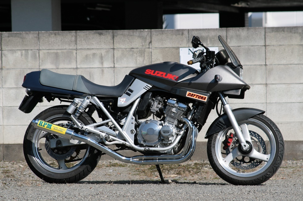 アールピーエム RPM-4in2in1フルエキゾーストマフラー サイレンサーカバー:アルミ GSX400S カタナ