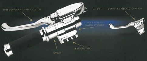 PerformanceMachine パフォーマンスマシン その他ハンドルパーツ ハンドコントロールセット 2011-UP CAN BUS 3ボタン 仕様:コントラストカット