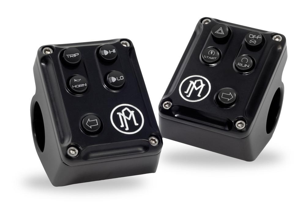 PerformanceMachine パフォーマンスマシン ハンドルスイッチ CAN BUS CONTROL スイッチハウジング 仕上げ:コントラストカット ソフテイル 11