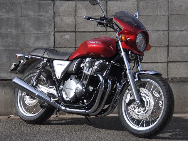 CHIC DESIGN シックデザイン ビキニカウル・バイザー ロードコメット カラー:スモーク カラー:未塗装(黒ゲルコート) CB1100RS