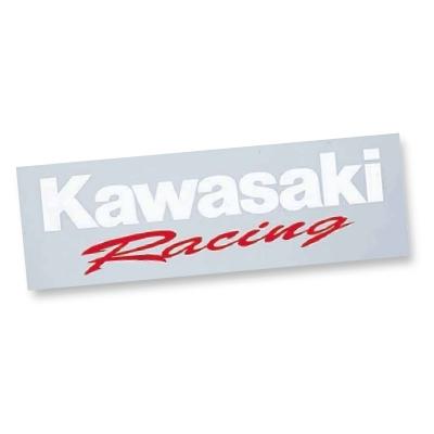 KAWASAKIカワサキ ステッカーデカール カワサキレーシングステッカー抜き文字 海外限定 上品 KAWASAKI カワサキ