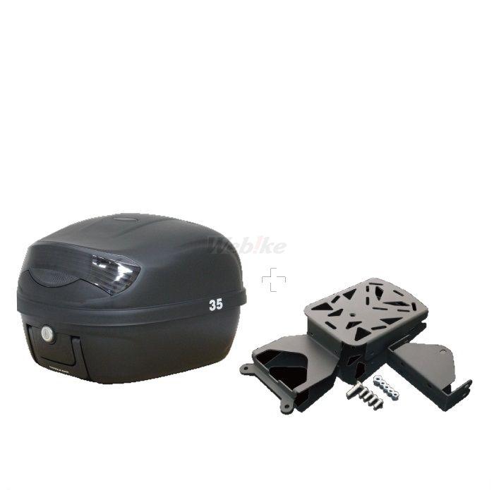 MADMAX マッドマックス トップケース・テールボックス キャリア&リアボックス セット 29L ボックスカラー:ブラック リフレクターカラー:ブラック NMAX
