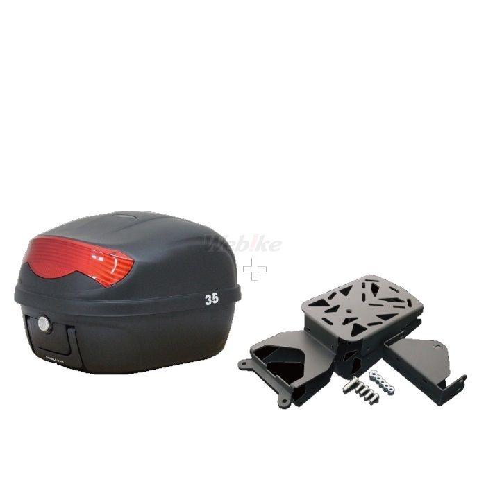 MADMAX マッドマックス トップケース・テールボックス キャリア&リアボックス セット 29L ボックスカラー:ブラック リフレクターカラー:レッド NMAX