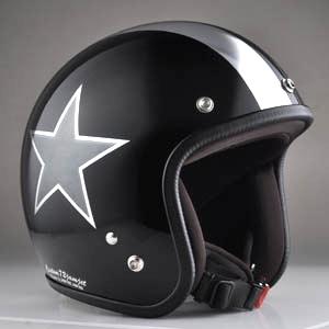 【クーポン配布中】72JAM 72ジャム ジェットヘルメット BLACK STAR ブラック スター
