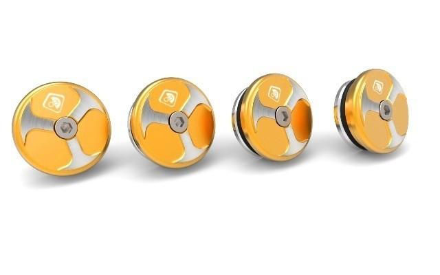 DUCABIKE ドゥカバイク 汎用外装部品・ドレスアップパーツ フレームプラグ XDIAVEL カラー:ゴールド XDIAVEL