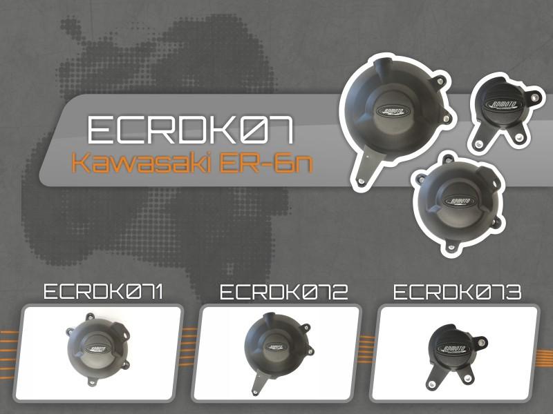 アールディーモト RDmoto エンジンカバーセット【Set of engine covers RDmoto】 ER6N (06-16)