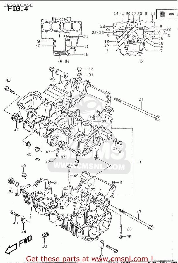 CMS シーエムエス その他エンジンパーツ (1130126873) CRANKCASE SET