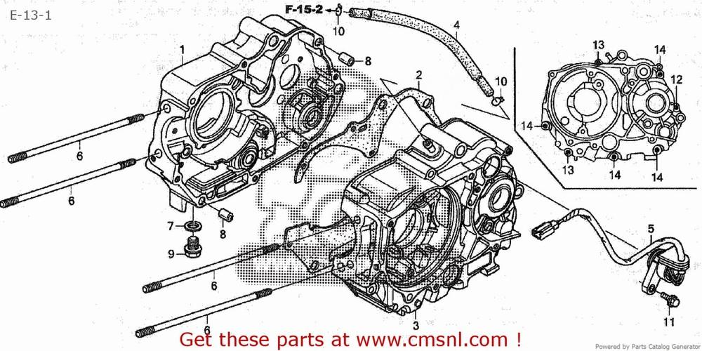 CMS シーエムエス その他エンジンパーツ CRANK CASE COMP,L C50CM C50D C50S 2008 (8) JAPAN AA01-170 (JDM)