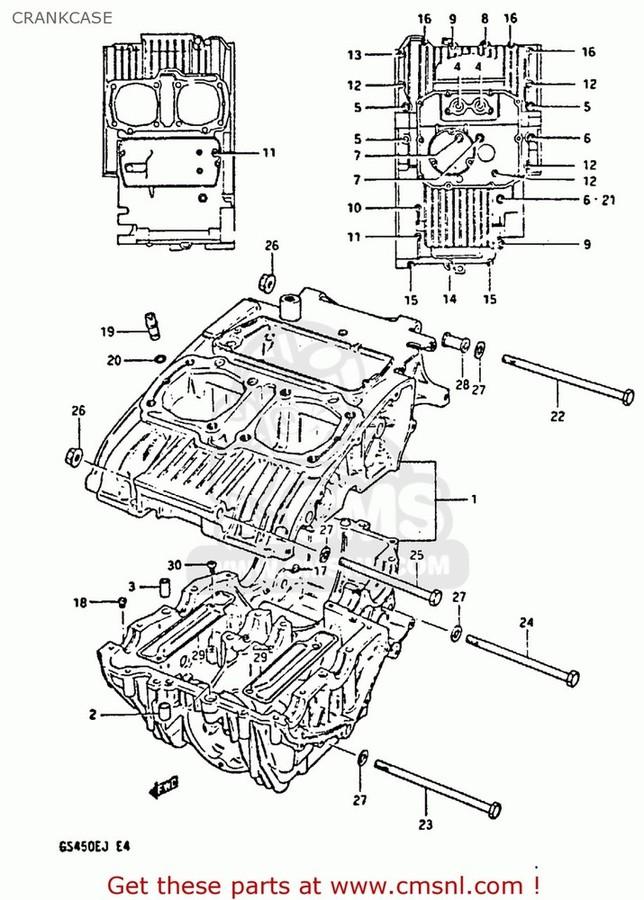 CMS シーエムエス その他エンジンパーツ (11300-44881) CRANKCASE SET