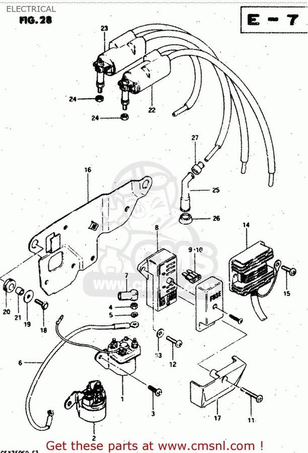 CMS シーエムエス その他電装パーツ (32800-49X50) RECTIFIER ASSEMBLY GS1100S 1983 (D) USA (E03) GS750A 1983 (D) USA (E03)
