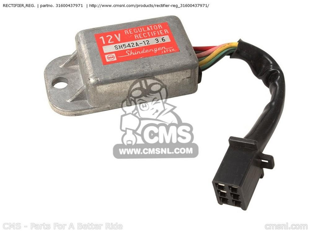 CMS シーエムエス その他電装パーツ RECTIFIER,REG. CB125S 1984 (E) USA CB125S 1985 (F) USA