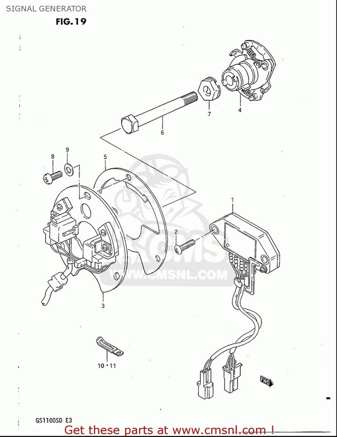 CMS シーエムエス その他電装パーツ SIGNAL GENERATOR ASSY GS1100S 1983 (D) USA (E03)