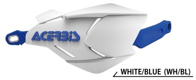 ACERBIS アチェルビス X-FACTORYハンドガード カラー:ホワイト/ブルー