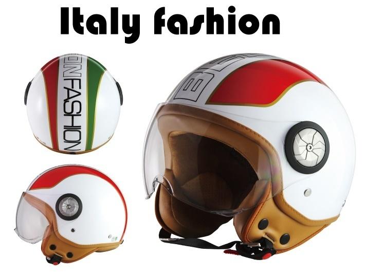 MADMAX マッドマックス BEON スモールジェットヘルメット B110 フラッグ ITALY FASION サイズ:M(57-58cm)