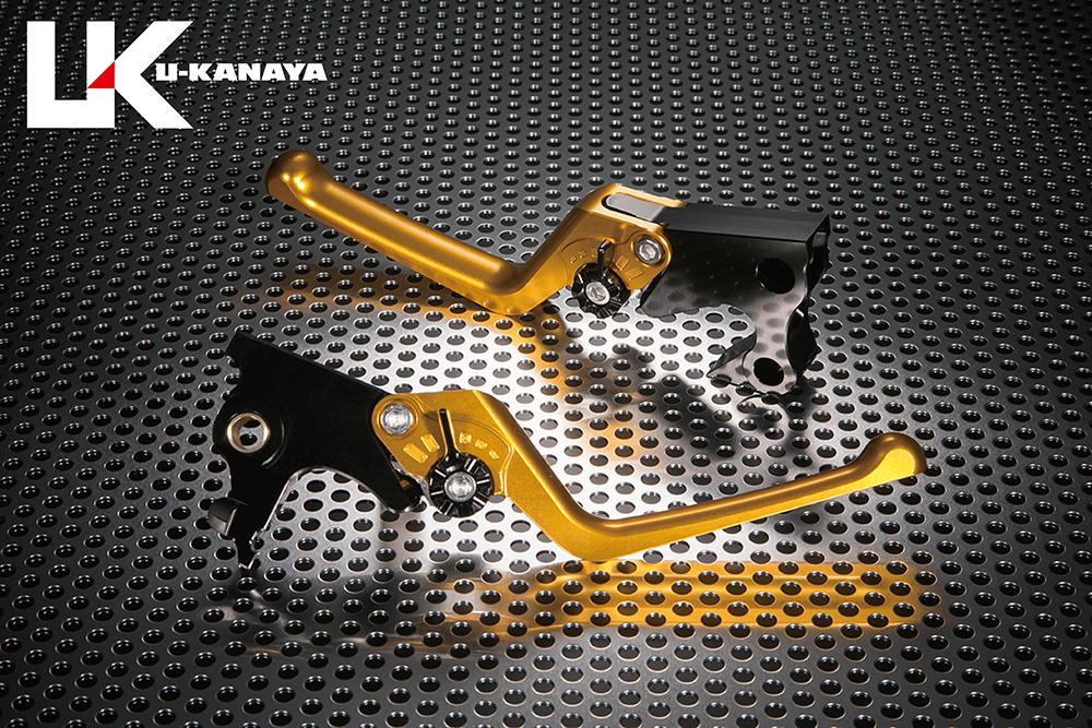 U-KANAYA ユーカナヤ ストリートタイプ アルミビレットレバーセット アジャスターカラー:ブラック レバーカラー:ゴールド