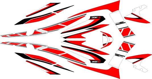 【ポイント5倍開催中!!】【クーポンが使える!】 MDF エムディーエフ ステッカー・デカール グラフィックキット コンプリートセット カラー:レッド マジェスティS