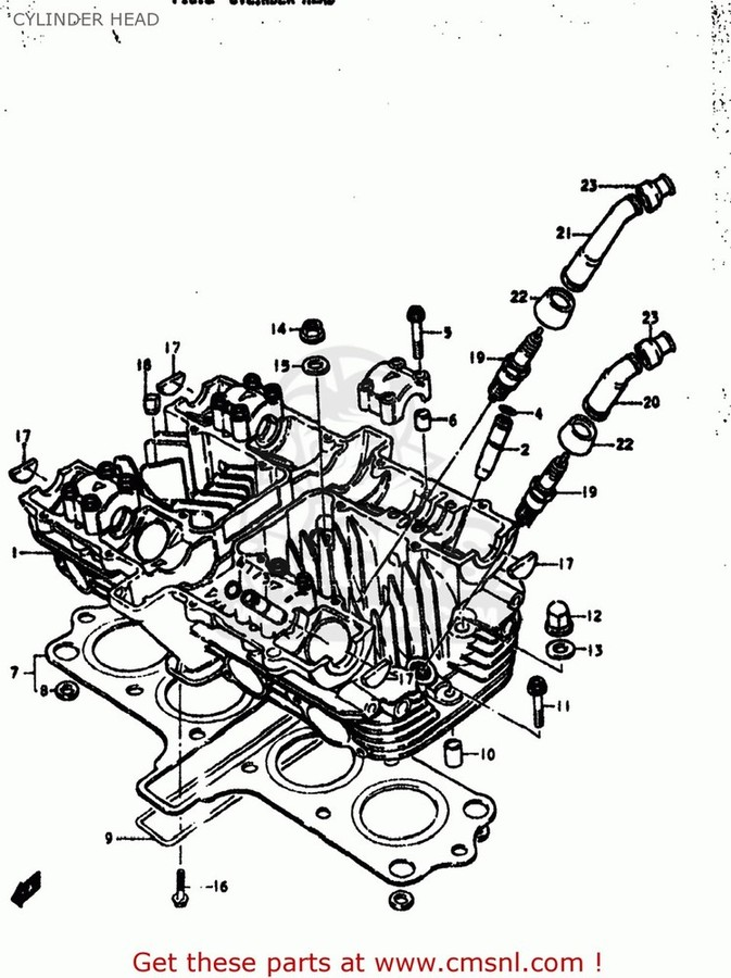CMS シーエムエス その他エンジンパーツ (11141-47086-H17) GASKET,CYLINDER HEAD