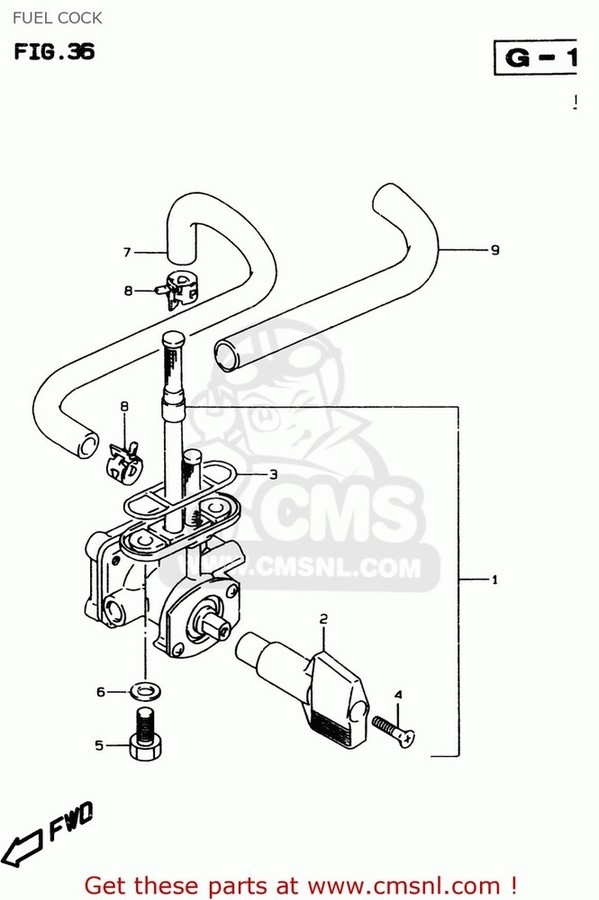 CMS シーエムエス 燃料コック (4430026E01) COCK ASSEMBLY,FUEL
