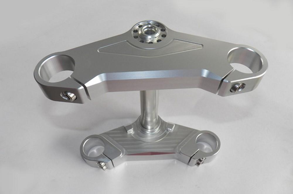 GIGA BIKE FACTORY ギガバイクファクトリー トップブリッジセット CNC削り出し カラー:ポリッシュ SR400 SR500