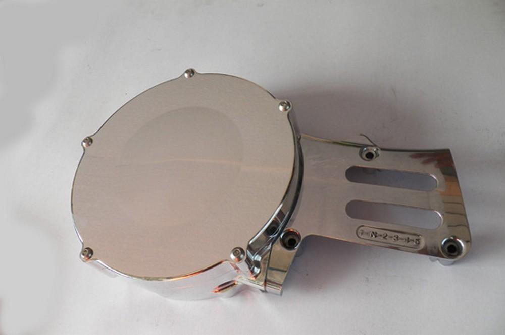 GIGA BIKE FACTORY ギガバイクファクトリー エンジンカバー ビレットジェネレーター&スプロケットカバー CNC削り出し カラー:ゴールド SR400 SR500