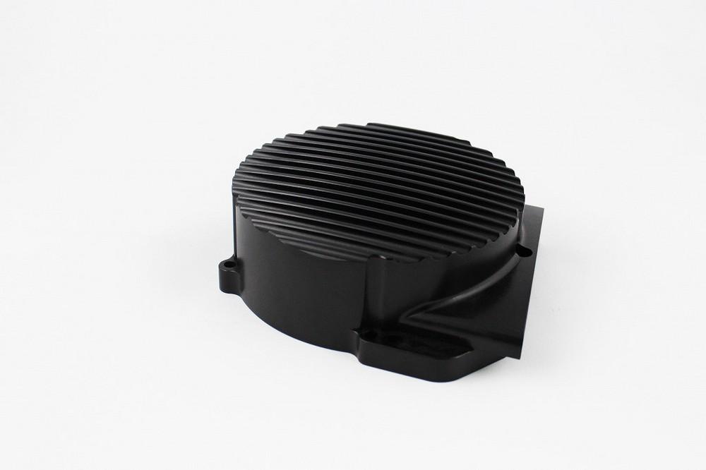 GIGA BIKE FACTORY ギガバイクファクトリー エンジンカバー ジェネレーターカバー CNC削り出し タイプ1 カラー:ブラック SR400 SR500 TT500 XT500