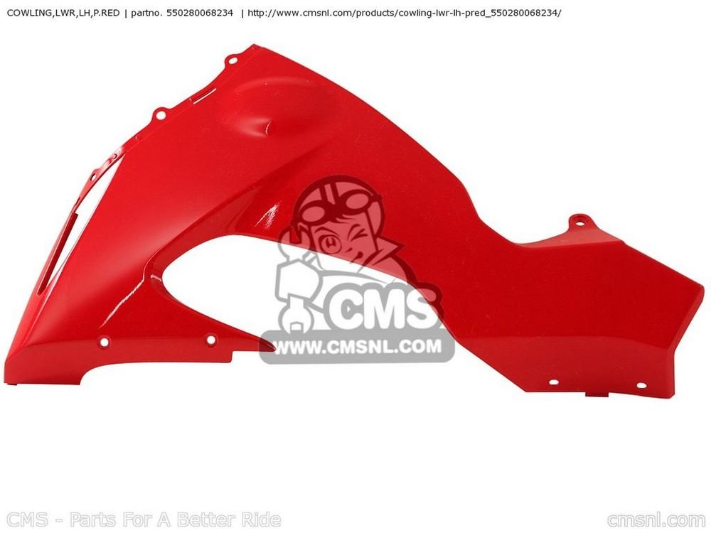 CMS シーエムエス COWLING,LWR,LH,P.RED ZX1000D7F NINJA ZX10R USA CALIFORNIA CANADA