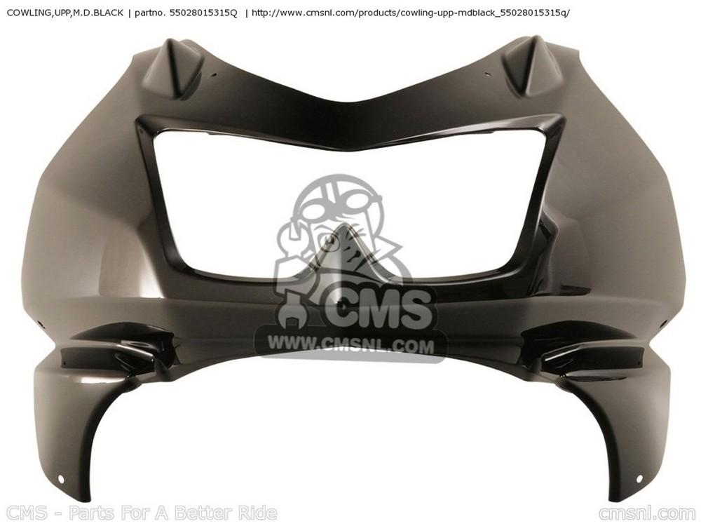 CMS シーエムエス アッパーカウル COWLING,UPP,M.D.BLACK EX250J9F NINJA 250R 2009 USA