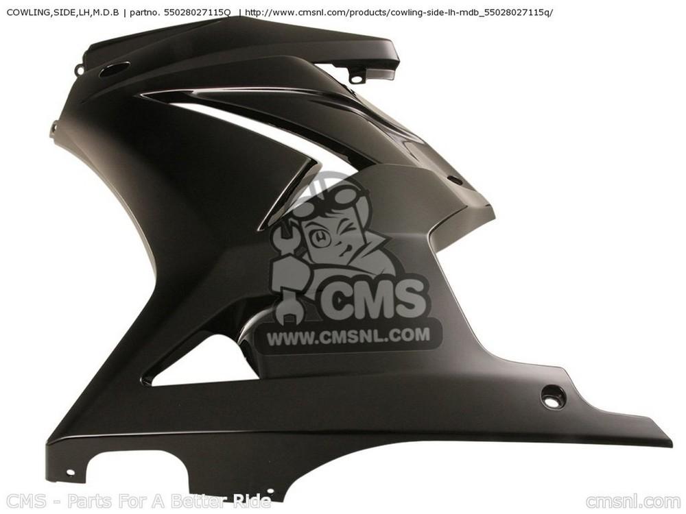 CMS シーエムエス サイドカバー COWLING,SIDE,LH,M.D.B EX250J9F NINJA 250R 2009 USA