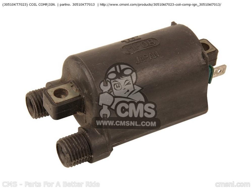 CMS シーエムエス イグニッションコイル・ポイント・イグナイター関連 (30510-KT7-023) COIL COMP,IGN. CB400F 1990 (L) USA CB400F CB1 1989 (K) USA