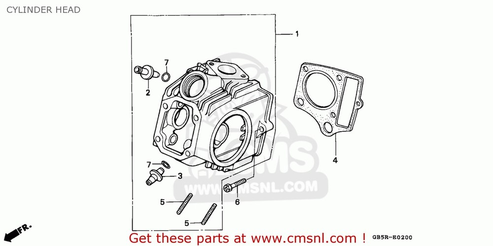 CMS シーエムエス その他エンジンパーツ (12200-GT0-751) HEAD COMP,CYLINDE