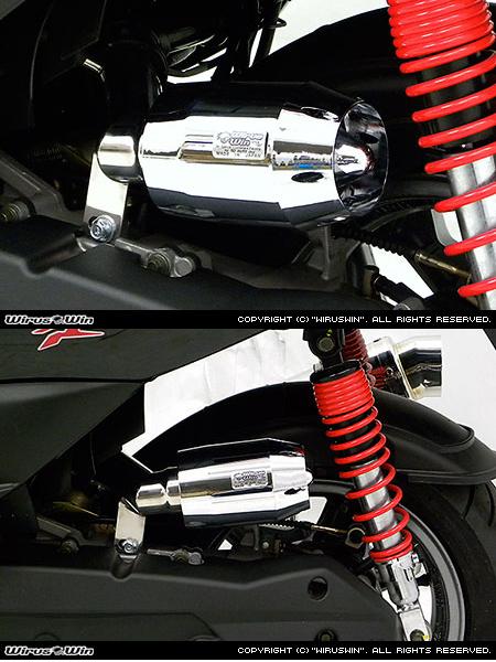 WirusWin ウイルズウィン エアクリーナー・エアエレメント ブリーズタイプ エアクリーナーキット カラー:ブラックメッキ Racing125FI