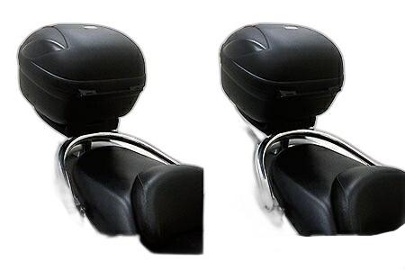 WirusWin ウイルズウィン バックレスト・グラブバー リアボックス付き タンデムバー ブライアントタイプ フォルツァ(MF06)