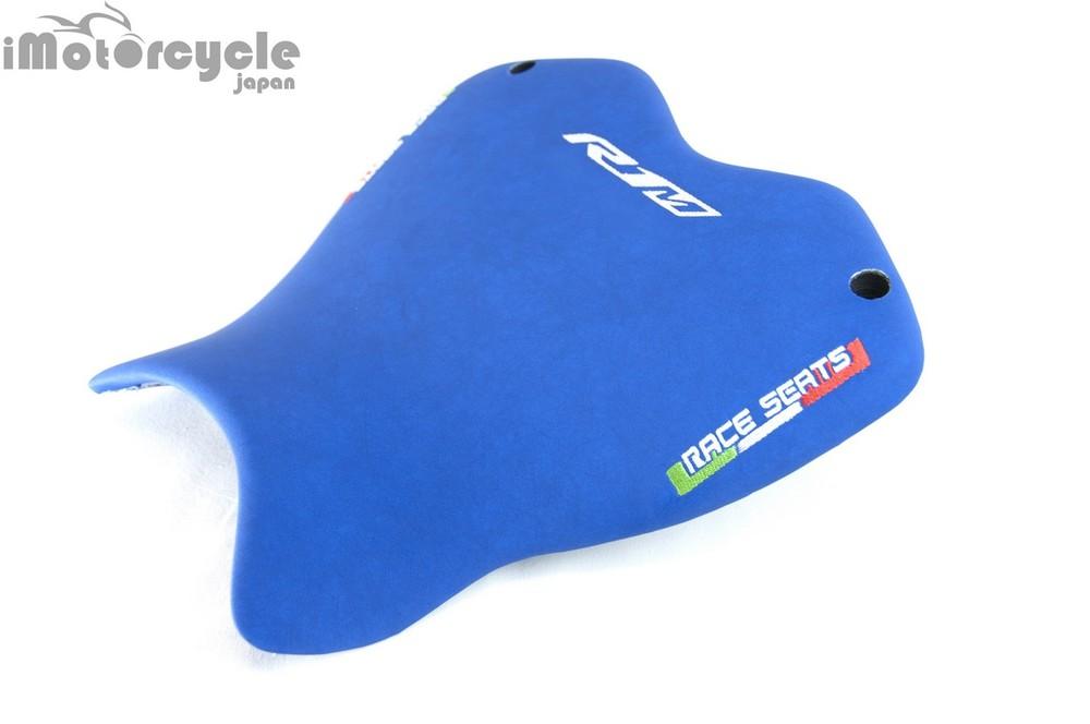 RACESEATS レースシーツ シート本体 シートASSY ストリート ネオプレンライン/カーボンシートプレート (シート一式) タイプ:ブルー/車種ロゴなし・RACE SEATSロゴのみ YZF-R1 YZF-R1 M