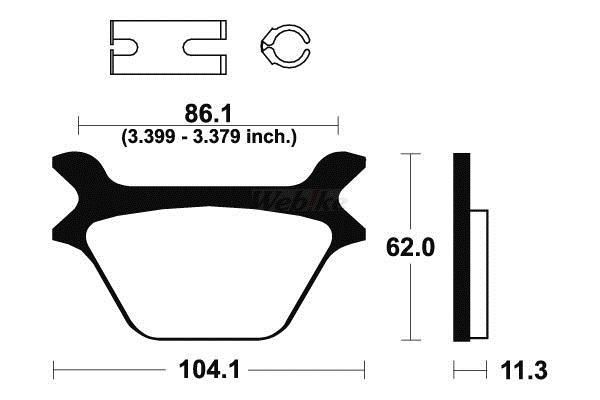 TECNIUM テクニウム ブレーキパッド シンターメタル .【BRAKE PADS SINTERED METAL .】【ヨーロッパ直輸入品】