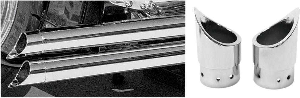 BARON バロン その他マフラーパーツ エキゾーストシステム ヒントミニスカラップ【EXHAUST TIPS MINI SCALLOP】 カラー:ナチュラル(フィニッシュ:クローム) [1812-0171]