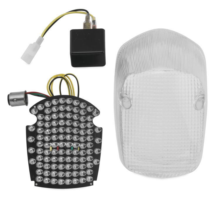 BikeMaster バイクマスター テールランプ Integrated And Sequential Taillights Color:Integrated Clear [261704]