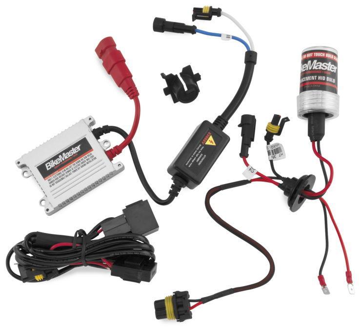 BikeMaster バイクマスター HID Light Kits Color:White Light Kit (6K) [266402]