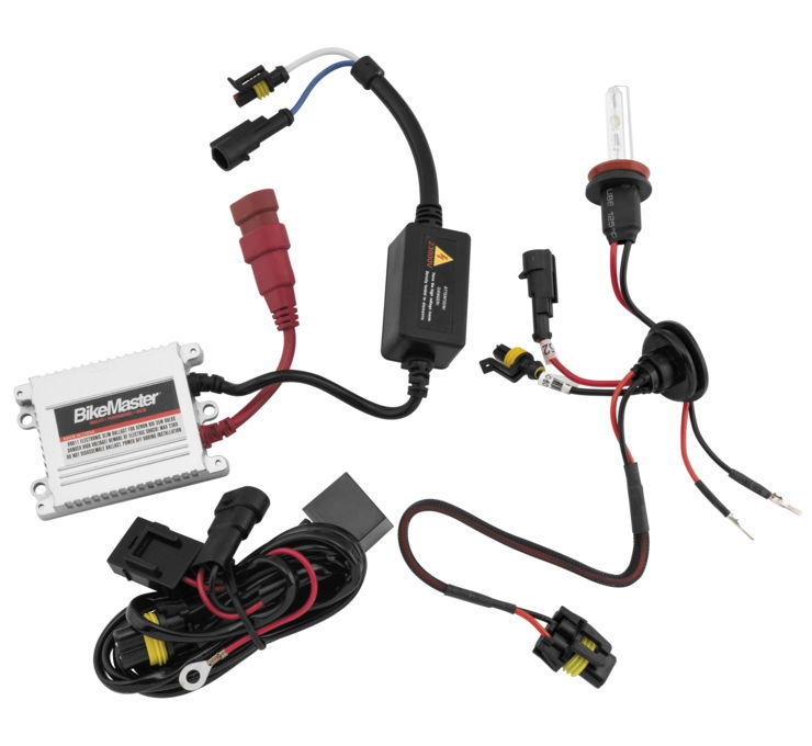 BikeMaster バイクマスター HID Light Kits Color:White Light Kit (6K) [266404]
