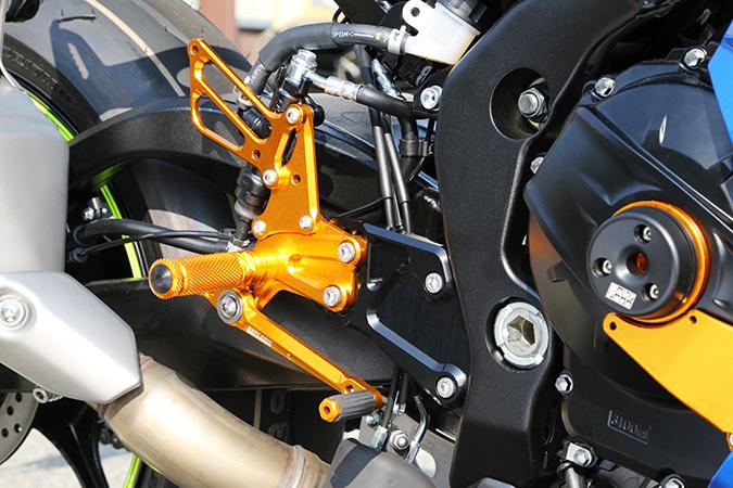 BABYFACE ベビーフェイス バックステップ レースステップキット カラー:シルバー GSX-R1000 17