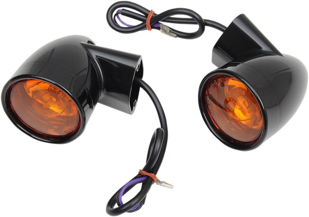 Drag Specialties ドラッグスペシャリティーズ リアウインカー BULLET ブラック FLT 【LIGHTS T/S BUL BLK RR FLT [2020-0602]】