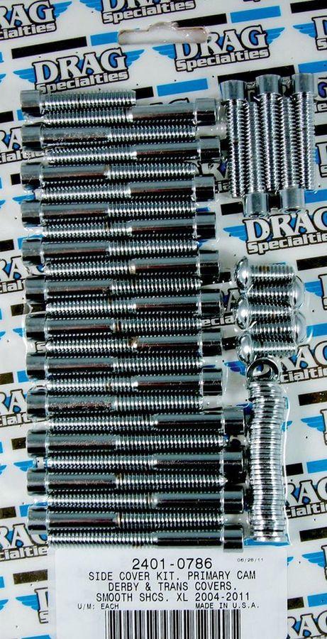 Drag Specialties ドラッグスペシャリティーズ その他外装関連パーツ ボルトキット サイドカバースムース XL 2004-17用 【BOLT KT SID CVR SM XL4-17 [2401-0786]】