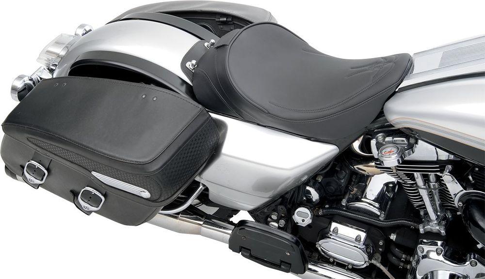 Drag Specialties ドラッグスペシャリティーズ ホイール本体 ソロシート ダブルブラケット ピンストライプ ブラック FLHR 【SEAT SOLO DBR PS BK FLHR [0801-0532]】