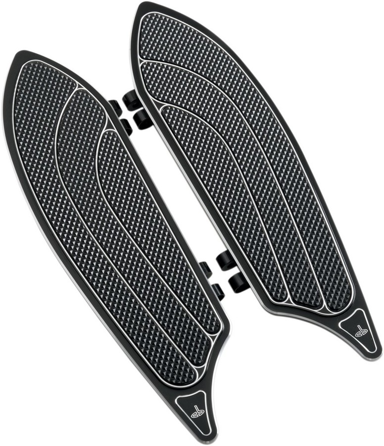 CARL BROUHARD DESIGNS カールブラウハードデザイン ドライバーフットボード ブラック FL 1984-2017用 【FLOORBOARD DRVR BL84-17FL [1621-0241]】