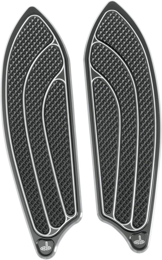 CARL BROUHARD DESIGNS カールブラウハードデザイン タンデムフットボード ELITEモデル ブラック 1986-2017FL 【FLOORBOARD PASS BL86-17FL [1621-0243]】