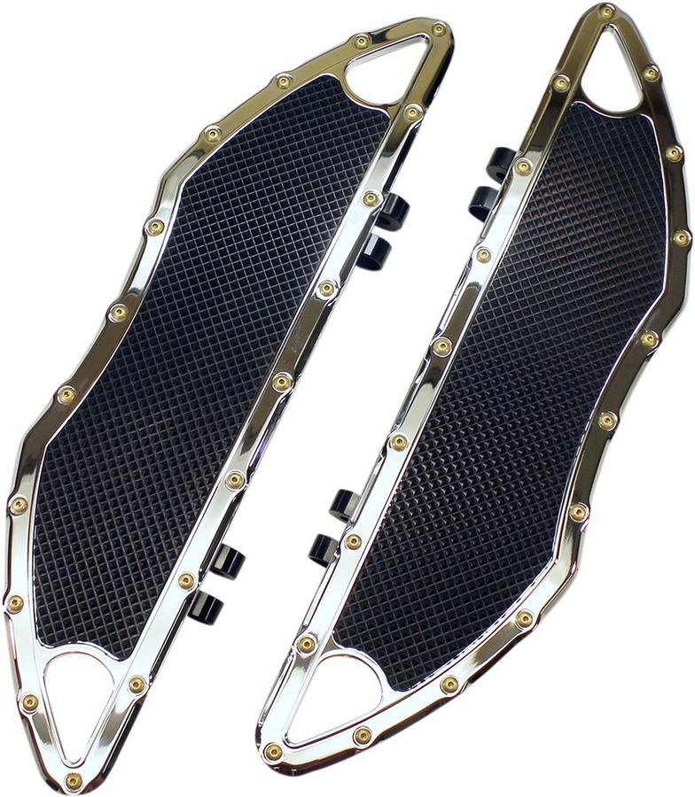 CARL BROUHARD DESIGNS カールブラウハードデザイン ドライバーフットボード BOMBERモデル クローム 【FLOORBOARDS DRV BMR CH [1621-0746]】