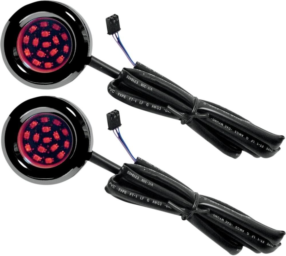 CYCLE VISIONS サイクルビジョン ウインカー バッグライト2 ブラック L99-13FLT 【BAG LITES 2 BLK L99-13FLT [2020-0384]】